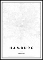 Map of Hamburg Poster