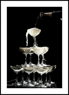 Champagne Fountain Poster