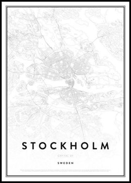 Map of Stockholm Poster