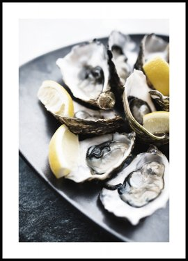 Oysters Plate Poster