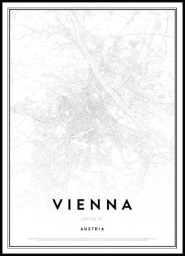 Map of Vienna Poster