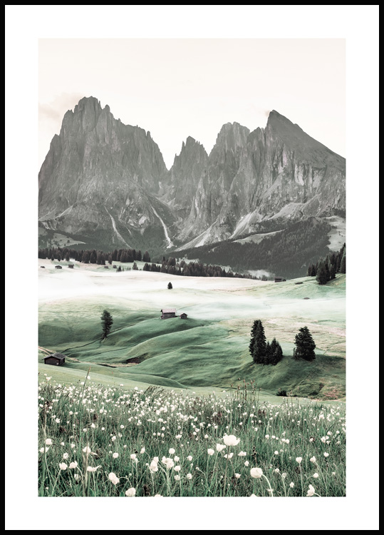 Dolomites Mountains Poster