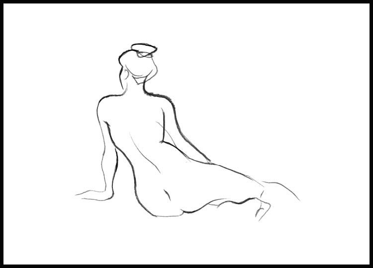 Nude sketch I Poster