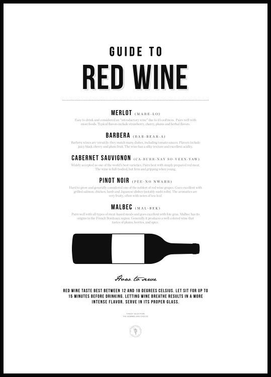 Guide to Red Wine Poster