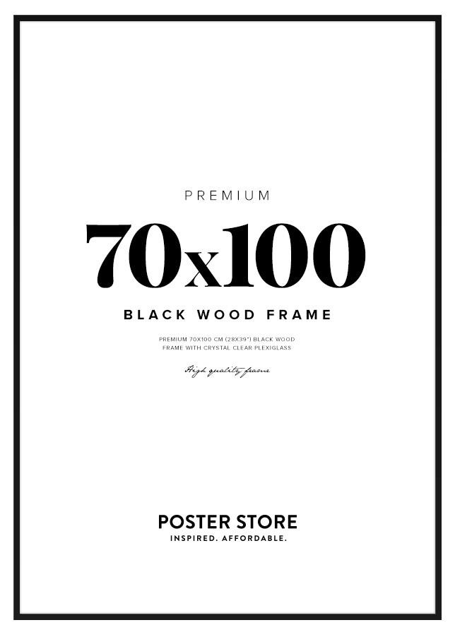 Black Wood Frame 70x100 cm