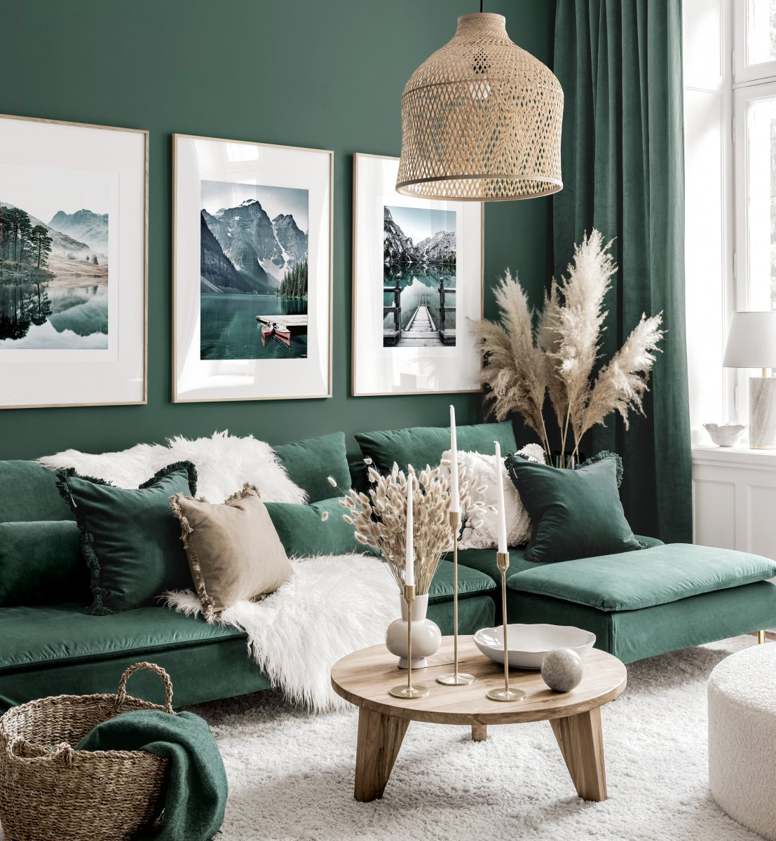 Stunning Gallery Wall Art Green Living Room Nature Posters Oak Frames Gallery Wall Inspiration Posterstore Co Uk