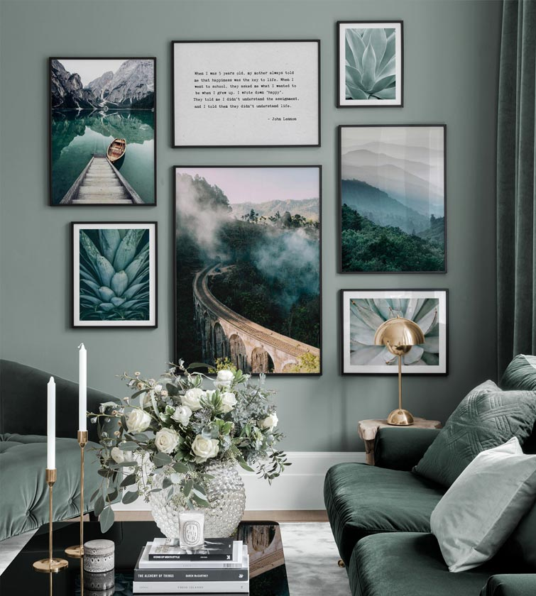 Beautiful wall art in living room